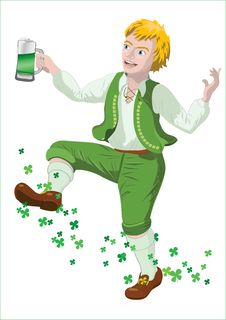 Free Saint Patrick With Beer Royalty Free Stock Photography - 23768537