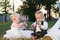 Free Children Dressed As Bride And Groom Royalty Free Stock Image - 23763686
