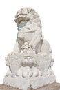 Free White Stone Lion Stock Images - 23777064