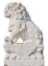 Free White Stone Lion Royalty Free Stock Photography - 23777077