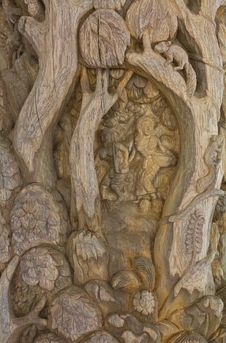 Free Carved Wood. Stock Photo - 23771930