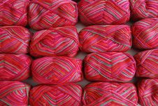 Free Red Yarn Background Stock Photos - 23773793
