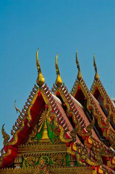 Golden Temple Gable Royalty Free Stock Photos