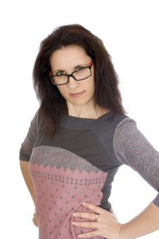 Free Strict Woman In Glasses Royalty Free Stock Photography - 23774597