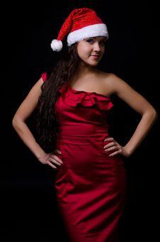 Free New Year Girl Royalty Free Stock Photos - 23774718