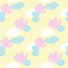Free Floral Seamless Background Stock Photos - 23775003
