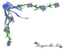 Free Forget Me Not Border Stock Photos - 23776413