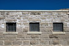Prison Barred Windows Royalty Free Stock Photography