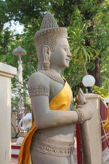 Free Religious Statue In Buddhist City Pillar Stock Photos - 23779193