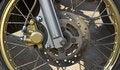 Free Disc Brakes Front Wheel Motorbikes. Stock Photography - 23780982