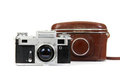 Free Old Camera And Case. Stock Image - 23781201
