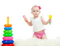 Free Baby Playing With Musical Toy Stock Photos - 23783353