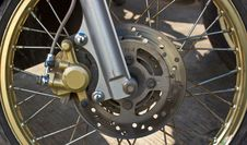 Free Disc Brakes Front Wheel Motorbikes. Stock Photography - 23780982