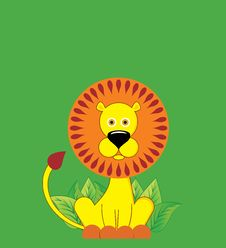 Cute Cartoonn Lion Royalty Free Stock Images