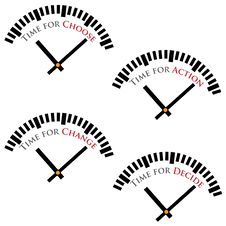 Free Set Of Time Concepts. Stock Image - 23784491