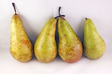 Four Pears Stock Images