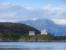 Free Two Houses In Gulf Of Bodø Stock Photography - 23785892