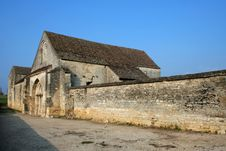 Free Abandoned Church In Bourgogne Stock Image - 23786531