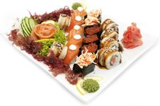 Free Plate Of Sushi Royalty Free Stock Photos - 23787098