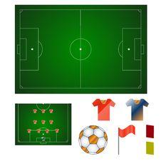 Football Set Stock Photos