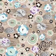 Free Abstract And Floral Pattern Royalty Free Stock Images - 23792029