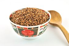 Buckwheat In A Bowl Stock Photography