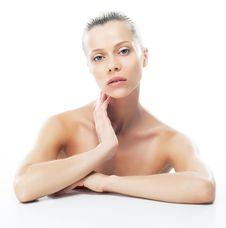 Body Care - Sensual Caucasian Female Closeup Royalty Free Stock Image