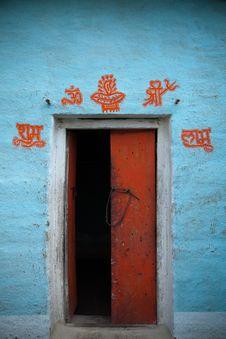 Open Door Indian Village Stock Photography