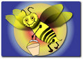 Free Humble-bee Bzzuker Royalty Free Stock Images - 2383109