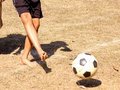 Free Kicking The Ball Royalty Free Stock Photography - 2383587