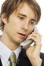 Free Businessman Talks On Phone Royalty Free Stock Photos - 2386208