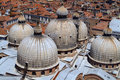 Free Domes Of St Marks Basilica Royalty Free Stock Image - 2387936