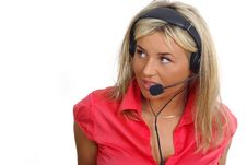 Free Customer Support Girl Royalty Free Stock Image - 2380316