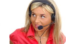 Free Customer Support Girl Royalty Free Stock Photography - 2380347