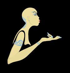 Free Bald Woman Royalty Free Stock Photo - 2380785