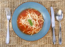 Bowl Of Tomato Soup Stock Photography