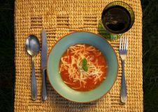 Free Bowl Of Tomato Soup Royalty Free Stock Photo - 2381565