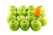 Free Green Apples And A Lemon Stock Image - 2382281