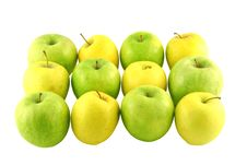 Free Green And Yellow Apples Stock Images - 2382344