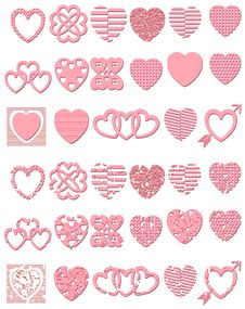 Free Contemporary Heart Elements Royalty Free Stock Images - 2382909