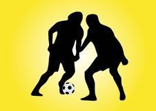 Free Two Soccer Players With Ball Stock Photo - 2383990