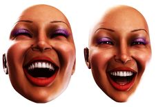 Free Happy Female Heads 2 Royalty Free Stock Image - 2385036
