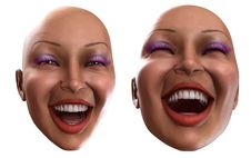Free Happy Female Heads 3 Stock Image - 2385051