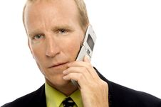 Free Businessman With Phone Royalty Free Stock Photos - 2386228