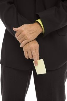 Free Businessman Holds A Note Stock Image - 2386261