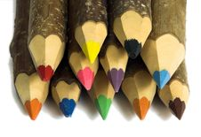 Free Coloured Pencils Royalty Free Stock Photos - 2386438