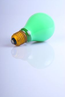 Free Green Lightbulb Royalty Free Stock Photos - 2386728