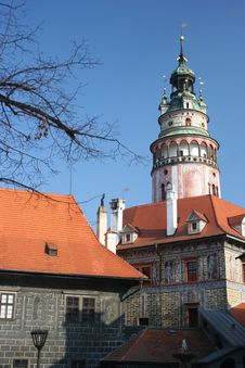 Free Cesky Krumlov Castle Tower Stock Photography - 2386832