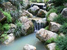Free Garden Waterfall Stock Photography - 2388002