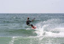 Free Kitesurfer Flying Royalty Free Stock Photo - 2388825